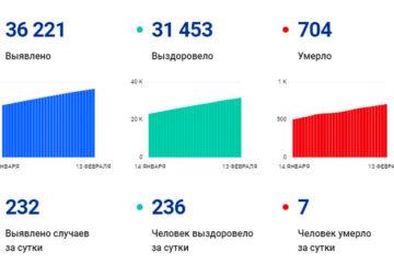 В Вологодской области за сутки выявили 232 случая заболевания коронавирусом