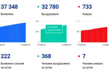 В Вологодской области за сутки выявили 222 случая заболевания коронавирусом, 368 человек выздоровели