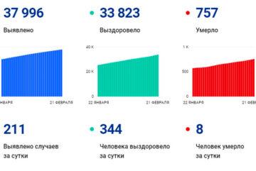В Вологодской области за сутки выявили 211 случаев заболевания коронавирусом