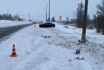 В Череповецком районе водитель не справился с управлением и протаранил опору ЛЭП