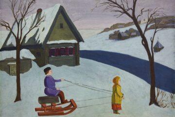 «Зимним пейзажем» Константина Кандаурова предлагает полюбоваться проект «Арт-мозаика»