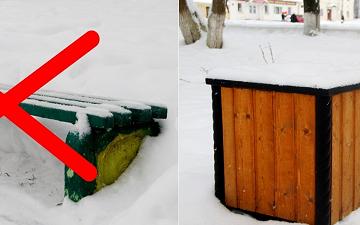 В Великом Устюге установят современные скамейки взамен «зеленых»