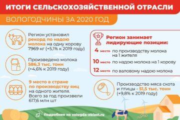 Новый исторический рекорд по производству молока и сливочного масла установлен в Вологодской области