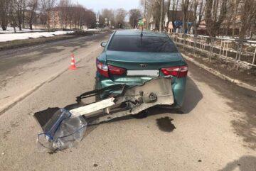 Пассажир пострадал в Вологде при столкновении двух иномарок
