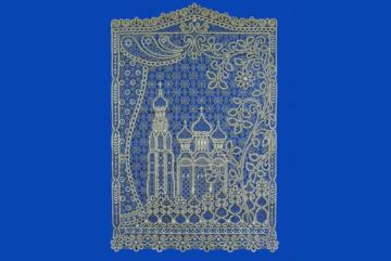 Кружевное панно «Город, где резной палисад» может пополнить коллекцию Музея кружева