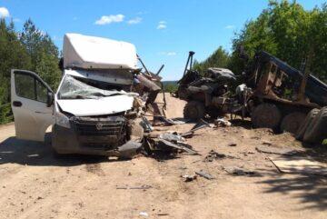 Водитель «ГАЗели» погиб в аварии с КамАЗом в Вологодской области
