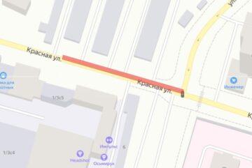 В Череповце на две недели ограничили движение по улице Красной