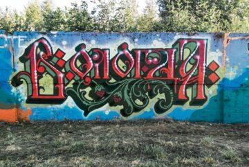 Двадцатиметровое граффити появилась на улице Ярославской в Вологде