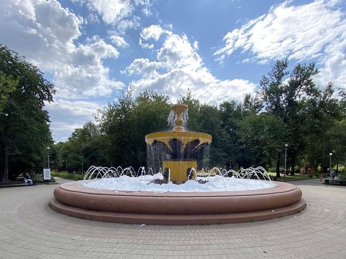 В Череповце хулиганы решили вспенить фонтан